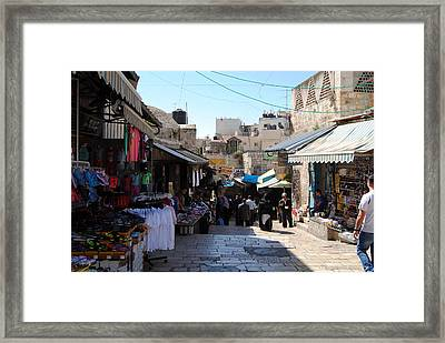 The Old City Of Jerusalem 1 Framed Print by Isam Awad
