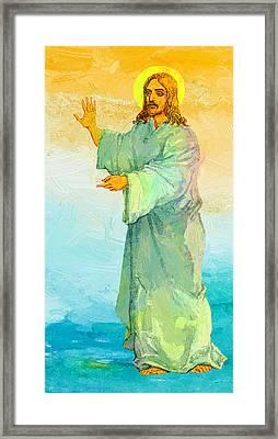 Jesus Christ Framed Print by Elena Kosvincheva