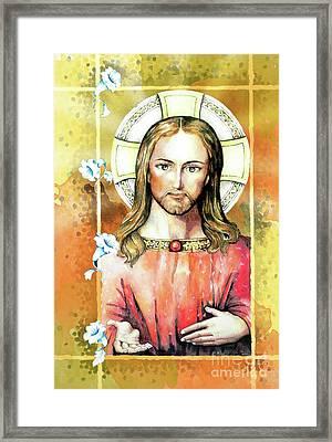 Jesus Christ Framed Print by Hermana Arts