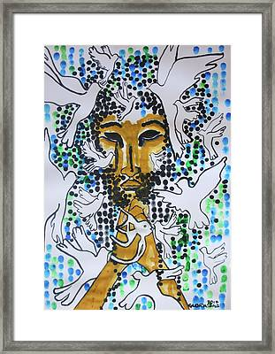 Jesus Christ King Of Peace Framed Print
