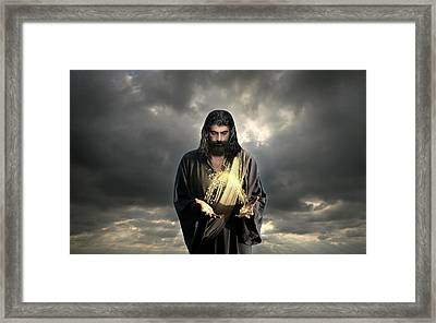 Jesus Christ- Look I Am Coming Soon Framed Print