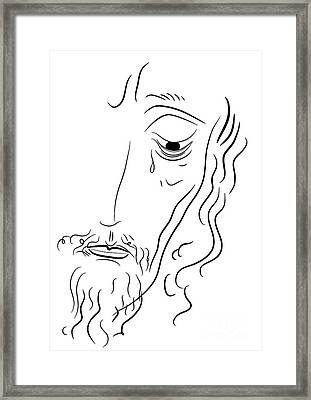 Jesus Christ Framed Print by Michal Boubin