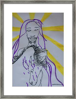 Jesus - Faithful And True Framed Print by Gloria Ssali
