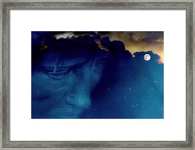 Jesus In The Night.. Framed Print by Al  Swasey
