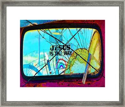 Jesus Is The Way Framed Print
