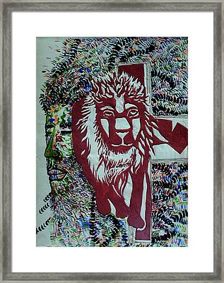 Jesus Lion Of Judah Framed Print by Gloria Ssali