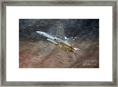 Jet Fighter Framed Print by Angel  Tarantella