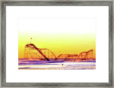 Jet Star Rollercoaster, Seaside Heights  Framed Print