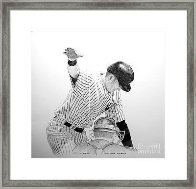 Jeter Framed Print by Tony Ruggiero