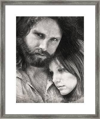 Jim And Pam Framed Print by Taylan Apukovska