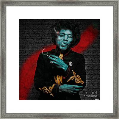 Jimi's Music Framed Print by ML Walker