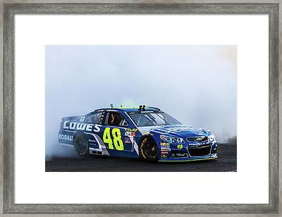 Jimmie Johnson  Framed Print by James Marvin Phelps