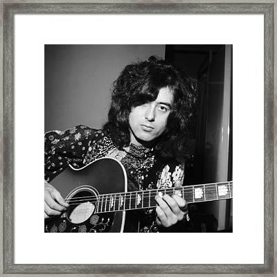 Jimmy Page 1970 Framed Print