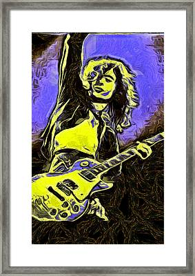 Jimmy Page Framed Print by Galeria Zullian  Trompiz