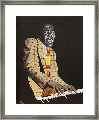 Jimmy Smith.king Of The Jazz Hammond B-3. Framed Print by Ken Zabel