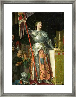 Joan Of Arc At The Coronation Of Charles Vii Framed Print by Jean-Auguste-Dominique Ingres
