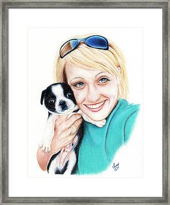 Framed Print featuring the drawing Joanna  by Mike Ivey