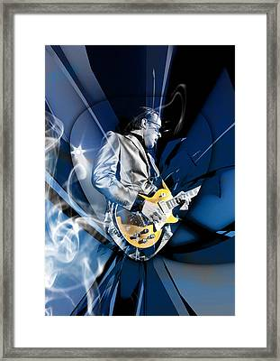 Joe Bonamassa Blues Guitarist Framed Print by Marvin Blaine