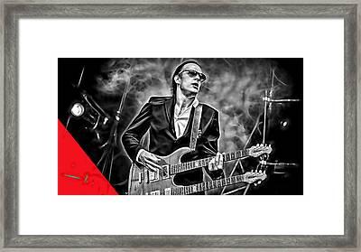 Joe Bonamassa Collection Framed Print by Marvin Blaine