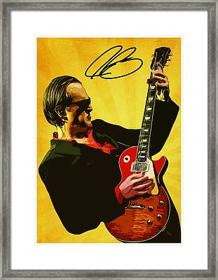 Joe Bonamassa Framed Print by Semih Yurdabak