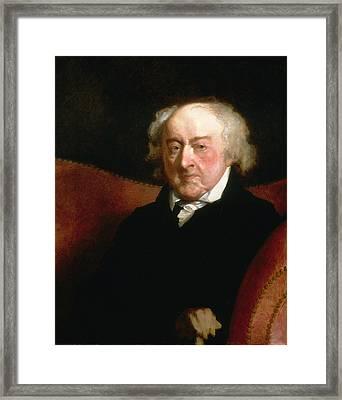 John Adams Framed Print by Gilbert Stuart