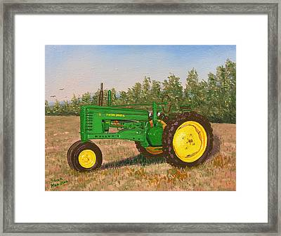 John Deere Model B Framed Print by Stan Hamilton