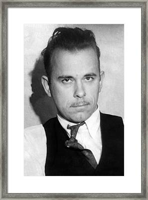 John Dillinger, Public Enemy No.1 Framed Print by Everett