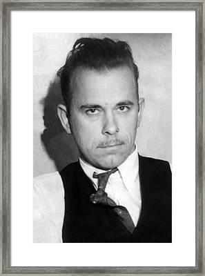 John Dillinger, Public Enemy No.1 Framed Print