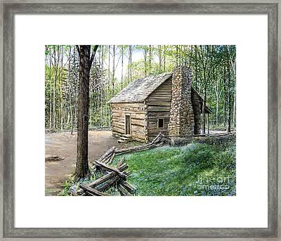 John Ownby Cabin  Framed Print