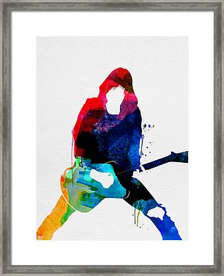 Johnny Watercolor Framed Print