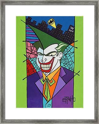 Joker Framed Print by Erik Pinto