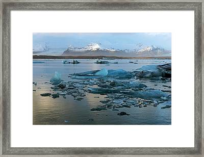 Framed Print featuring the photograph Jokulsarlon, The Glacier Lagoon, Iceland 5 by Dubi Roman