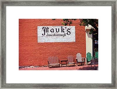 Jonesborough Tennessee Mauk's Store Framed Print