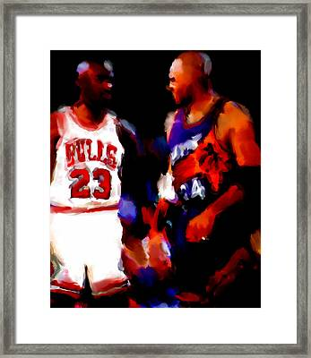 Jordan And Barkley Framed Print by Brian Reaves
