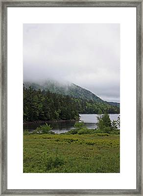 Jordan Pond Framed Print by Becca Brann