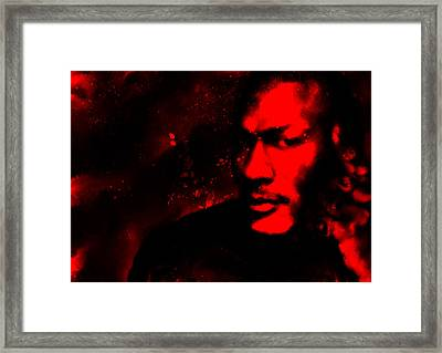 Jordan Six Rings Framed Print by Brian Reaves
