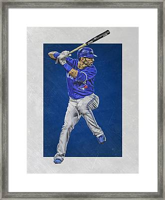 Jose Bautista Toronto Blue Jays Art Framed Print