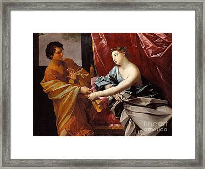 Joseph And Potiphar's Wife  Framed Print by Celestial Images