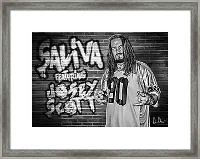 Josey Scott Saliva Framed Print by Don Olea