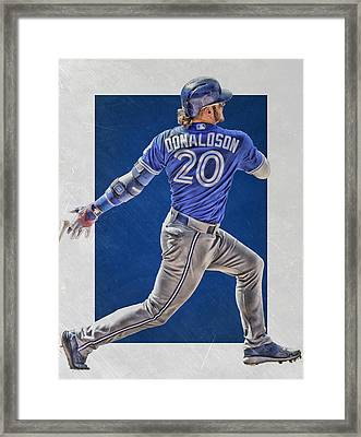 Josh Donaldson Toronto Blue Jays Art Framed Print by Joe Hamilton