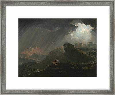 Joshua Commanding The Sun To Stand Still Framed Print