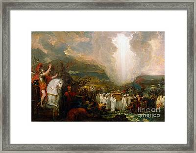 Joshua Passing The River Jordan With The Ark Of The Covenant Framed Print by Celestial Images