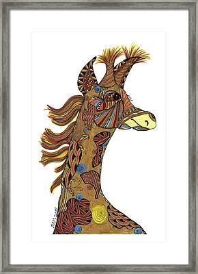 Josi Giraffe Framed Print