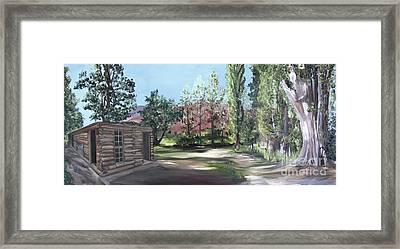 Josie's Cabin Framed Print