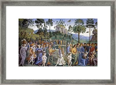 Journey Of Moses In Egypt Framed Print