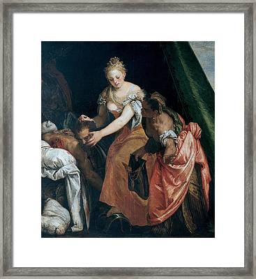 Judith And Holofernes Framed Print by Paolo Veronese