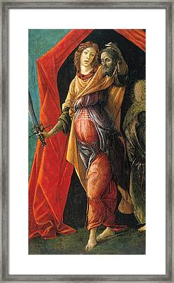 Judith Leaving The Tent Of Holofernes Framed Print by Sandro Botticelli