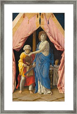 Judith With The Head Of Holofernes Framed Print by Andrea Mantegna