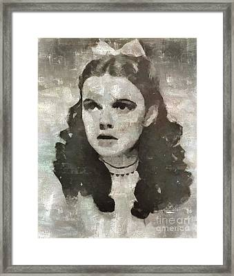 Judy Garland Vintage Hollywood Actress Framed Print