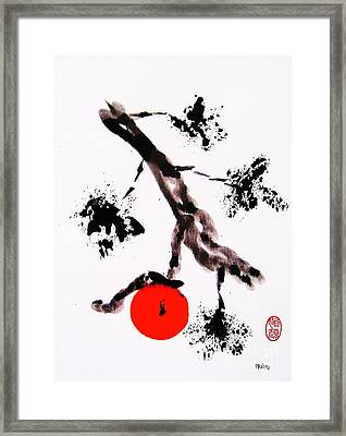 Framed Print featuring the painting Jukushita Kaki by Roberto Prusso
